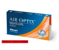 Air Optix Nigt&Day Aqua акция 3+1 линза в подарок